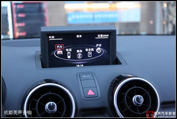 成都新款奥迪A1加装导航功能 成都美声汽车音响改装店高清图片